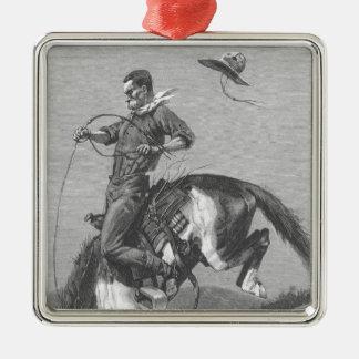 Vintage Rodeo Cowboys, Bucking Bronco by Remington Christmas Ornament