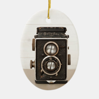 Vintage Rolleiflex Twin lens camera Christmas Ornament
