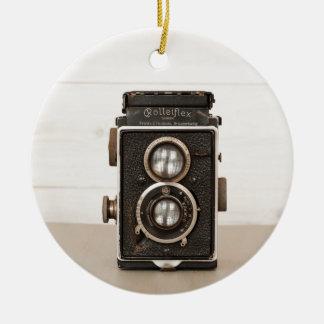 Vintage Rolleiflex Twin lens camera Christmas Ornament