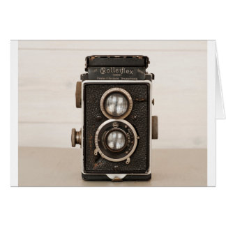 Vintage Rolleiflex Twin lens camera Greeting Card