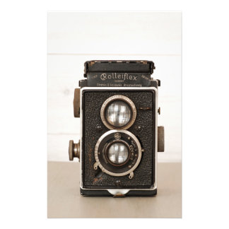 Vintage Rolleiflex Twin lens camera Stationery Design