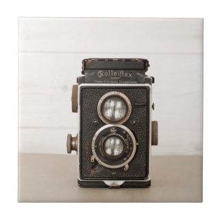Vintage Rolleiflex Twin lens camera Tile