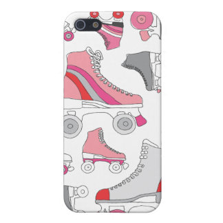 Vintage roller blades retro skate pattern iPhone 5 covers