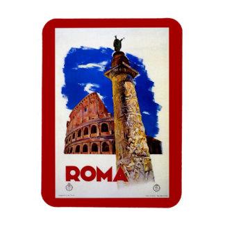 Vintage Roma Rome Italian travel Rectangular Photo Magnet