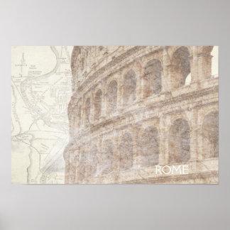 Vintage Roman Colosseum Poster