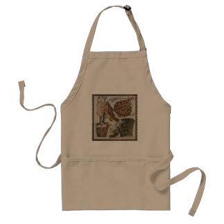 Vintage Roman mosaic design apron