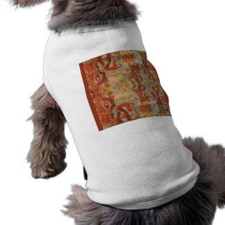 Vintage Romanian embroidery, traditional design Sleeveless Dog Shirt