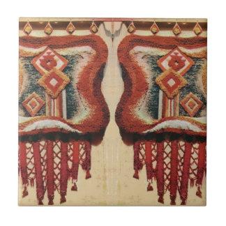 Vintage Romanian Needlework Small Square Tile