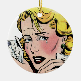Vintage Romantic Art - First Romance Break Up Christmas Ornament