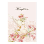Vintage Romantic Birds in Love Wedding Reception Pack Of Chubby Business Cards