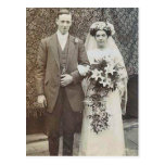 Vintage Romantic Bride and Groom Cards and Gifts Post Cards