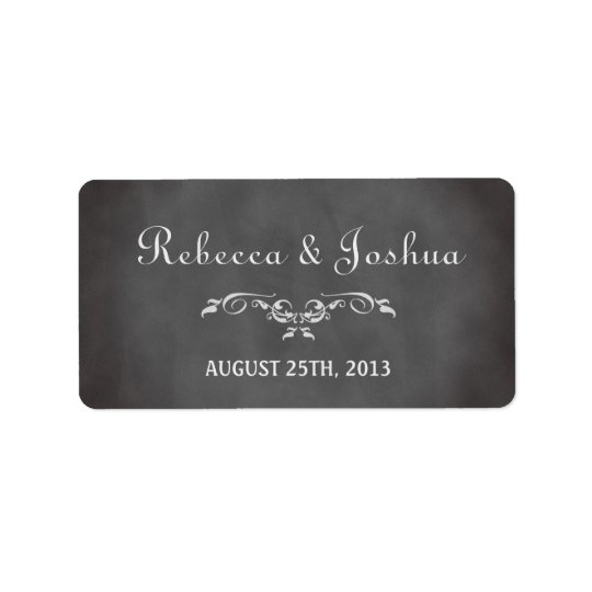 Vintage romantic chalkboard wedding favour tag address label