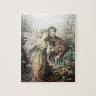 VINTAGE ROMANTIC COUPLE JIGSAW PUZZLE