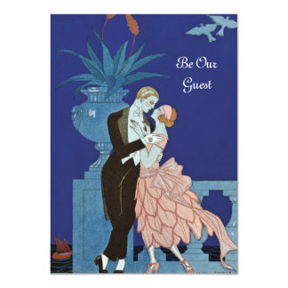 "Vintage Romantic Couple ~ ""Oui"" Card"