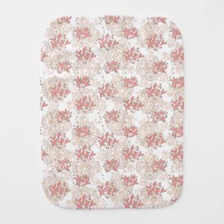 Vintage Romantic Flower Burp Cloth