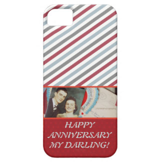 VINTAGE ROMANTIC HAPPY ANNIVERSARY OCCASION CASE BARELY THERE iPhone 5 CASE
