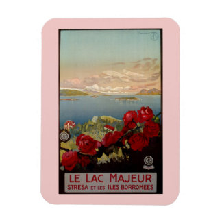Vintage romantic Lake Maggiore Italian Travel Magnet
