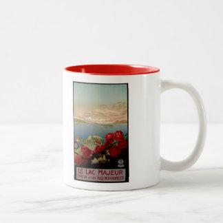 Vintage romantic Lake Maggiore Italian Travel Two-Tone Coffee Mug