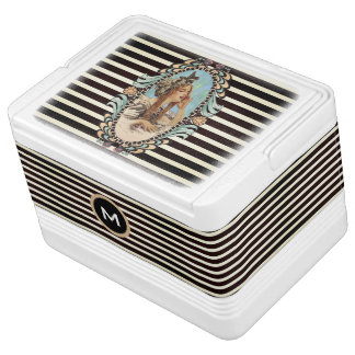 Vintage, Romantic & Modern Woman Igloo Cooler