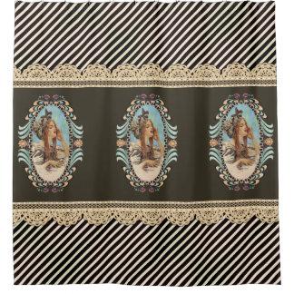Vintage, Romantic & Modern Woman Shower Curtain