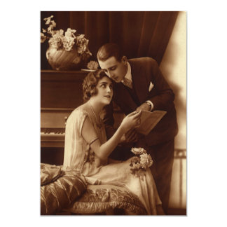 Vintage Romantic Music, Love and Romance Lovers Card