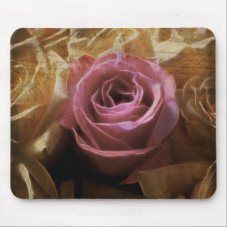Vintage Romantic One of a Kind Love, A Single Rose Mouse Mat