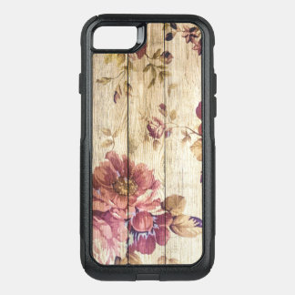 Vintage Romantic Roses on Wood OtterBox Commuter iPhone 7 Case