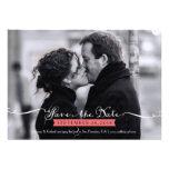 Vintage Romantic Script Photo Save the Date Custom Invite