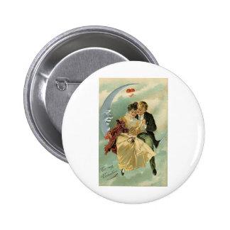 Vintage Romantic Valentine 3 Button