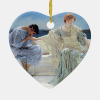 Vintage Romanticism, Ask Me No More by Alma Tadema Christmas Ornament