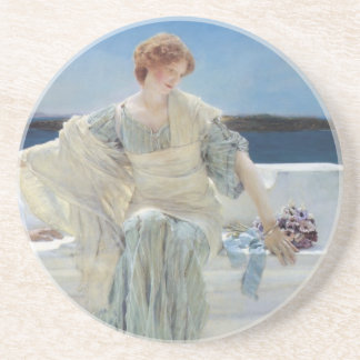 Vintage Romanticism, Ask Me No More by Alma Tadema Coaster