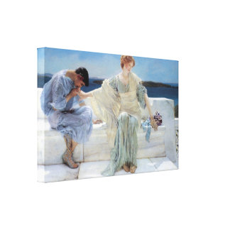 Vintage Romanticism, Ask Me No More by Alma Tadema Stretched Canvas Print