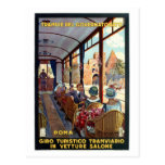 Vintage Rome 1920s Italian travel poster Postcard