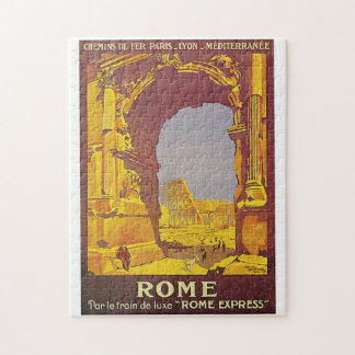Vintage Rome by Train Travel Ad Jigsaw Puzzle