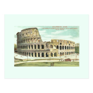 Vintage Rome Colosseum Travel Postcard
