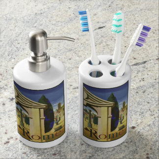 Vintage Rome Italy bathroom set