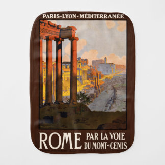 Vintage Rome Italy burp cloth