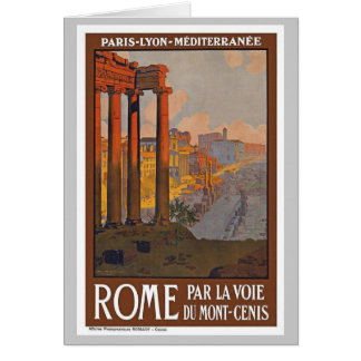 Vintage Rome Italy Card