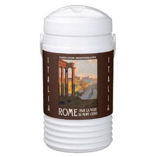 Vintage Rome Italy custom beverage cooler