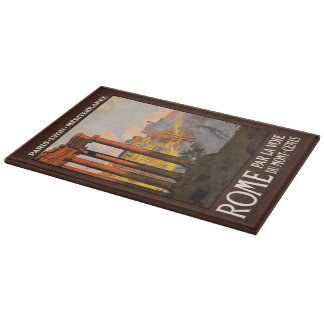 Vintage Rome Italy cutting boards