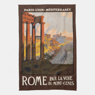 Vintage Rome Italy hand towel