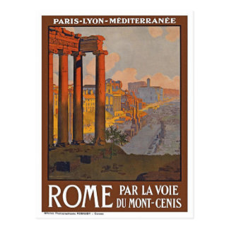 Vintage Rome Italy Travel Retro Postcard