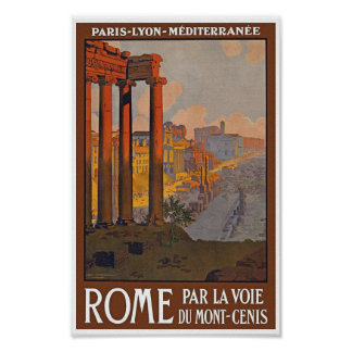 Vintage Rome Travel Poster
