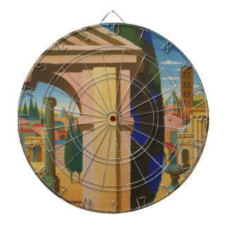 Vintage Rome Travel Poster Art Dartboard
