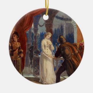 Vintage Romeo and Juliet Painting (1861) Christmas Ornament