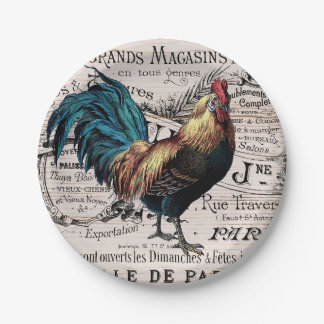 Vintage rooster any purpose party plate