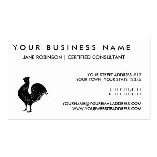 Vintage Rooster Business Cards