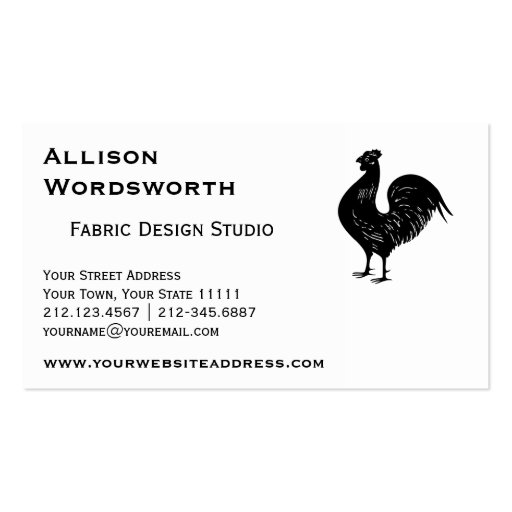 Vintage Rooster Business Card Template