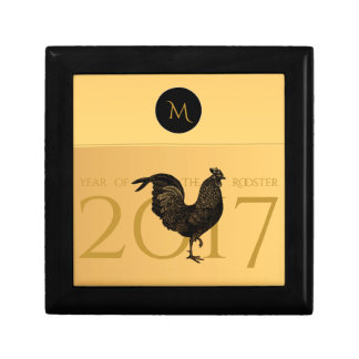 Vintage Rooster Chinese New Year 2017 Gigt Box 2 Small Square Gift Box
