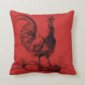 Vintage Rooster Farmhouse Pillow